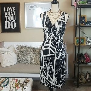 American Living Black and Cream Dress (s)8